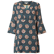 Buy White Stuff Wildlife Tunic Top, Cavolo Teal Online at johnlewis.com