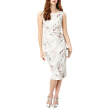 Buy Phase Eight Devika Marble Print Dress, Ivory/Petal Online at johnlewis.com