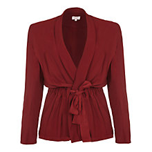 Buy Ghost Elanor Satin Jacket, Russet Online at johnlewis.com