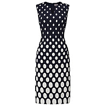 Buy Phase Eight Hollie Jacquard Dress, Navy/Stone Online at johnlewis.com