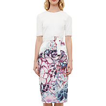 Buy Ted Baker Stephie Illuminated Bloom Contrast Dress, White/Multi Online at johnlewis.com