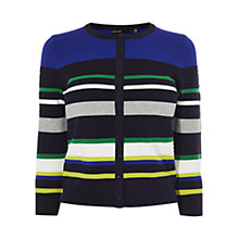 Buy Karen Millen Ripple Stitch Colour Block Cardigan, Multi Online at johnlewis.com