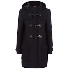 Buy Jaeger Wool Blend Duffle Coat, Navy Online at johnlewis.com