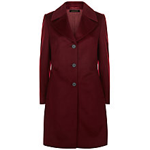 Buy Jaeger Three-Button Coat, Dark Bordeaux Online at johnlewis.com