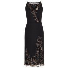 Buy Karen Millen Metallic Lace Cami Dress, Black/Multi Online at johnlewis.com