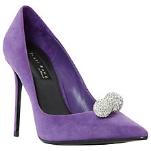 Buy Dune Black Sand Buckinghamm Crystal Ball Court Shoes, Purple Online at johnlewis.com