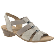 Buy Gabor Joan Wide Fit Cushioned Block Heeled Sandals, Koala Online at johnlewis.com