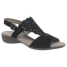 Buy Gabor Coleton Embellished Sandals, Black Online at johnlewis.com