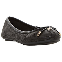 Buy Dune Hype Bow Ballet Pumps, Black Online at johnlewis.com