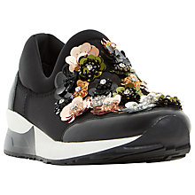 Buy Dune Elecktra Embellished Slip On Trainers, Black Online at johnlewis.com