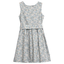 Buy Wheat Girls' Oda Floral Print Dress, Grey/Multi Online at johnlewis.com