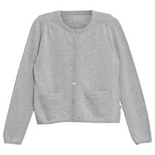 Buy Wheat Girls' Knitted Cardigan, Grey Online at johnlewis.com