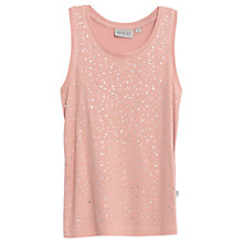 Buy Wheat Girls' Berbel Diamante Top, Pink Online at johnlewis.com