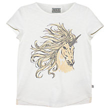 Buy Wheat Girls' Unicorn T-Shirt, Ivory Online at johnlewis.com