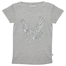 Buy Wheat Girls' Pegasus T-Shirt, Grey Online at johnlewis.com