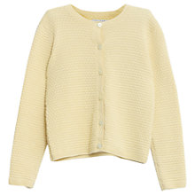 Buy Wheat Girls' Straw Knit Cardigan, Yellow Online at johnlewis.com