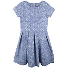 Buy Wheat Girls' Mascha Printed Jersey Dress, Blue Online at johnlewis.com