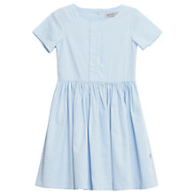 Buy Wheat Girls' Vera Chambray Dress, Blue Online at johnlewis.com