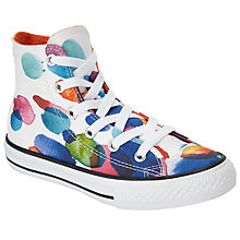 Buy Converse Children's Hi Top Floral Petal Shoes, White/Multi Online at johnlewis.com