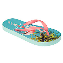Buy John Lewis Children's Flamingo Flip Flops, Multi Online at johnlewis.com