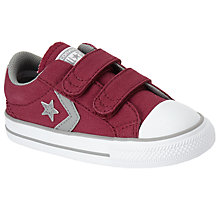 Buy Converse Children's Star Player 2V Shoes, Dark Red Online at johnlewis.com