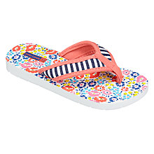 Buy John Lewis Children's Floral Flip Flops, Multi Online at johnlewis.com