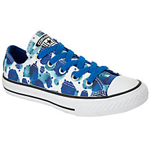 Buy Converse Children's Low Top Floral Petal Shoes, White/Blue Online at johnlewis.com