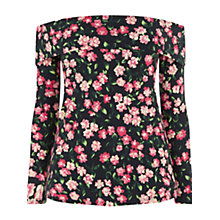 Buy Warehouse Cherry Blossom Bardot Top, Multi Online at johnlewis.com
