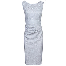 Buy Jolie Moi Lace Bonded Sequin Shift Dress, Silver Grey Online at johnlewis.com