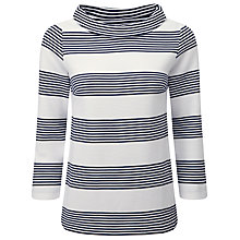 Buy Pure Collection Stripe Gemma Jacquard Bardot Top, Navy/White Stripe Online at johnlewis.com