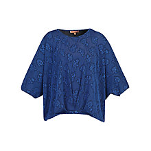 Buy Jolie Moi Textured Batwing Top, Royal Blue Online at johnlewis.com