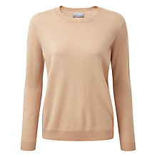 Buy Pure Collection Brooke Cashmere Relaxed Crew Neck Jumper, Camel Online at johnlewis.com
