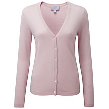 Buy Pure Collection Fawcett V Neck Cashmere Cardigan, Oyster Online at johnlewis.com