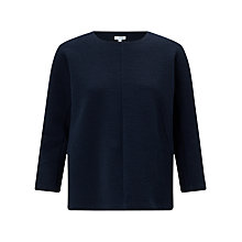 Buy Jigsaw Dart front Top, Navy Smoke Online at johnlewis.com