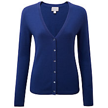 Buy Pure Collection Claire Cashmere V Neck Cardigan, Sapphire Online at johnlewis.com