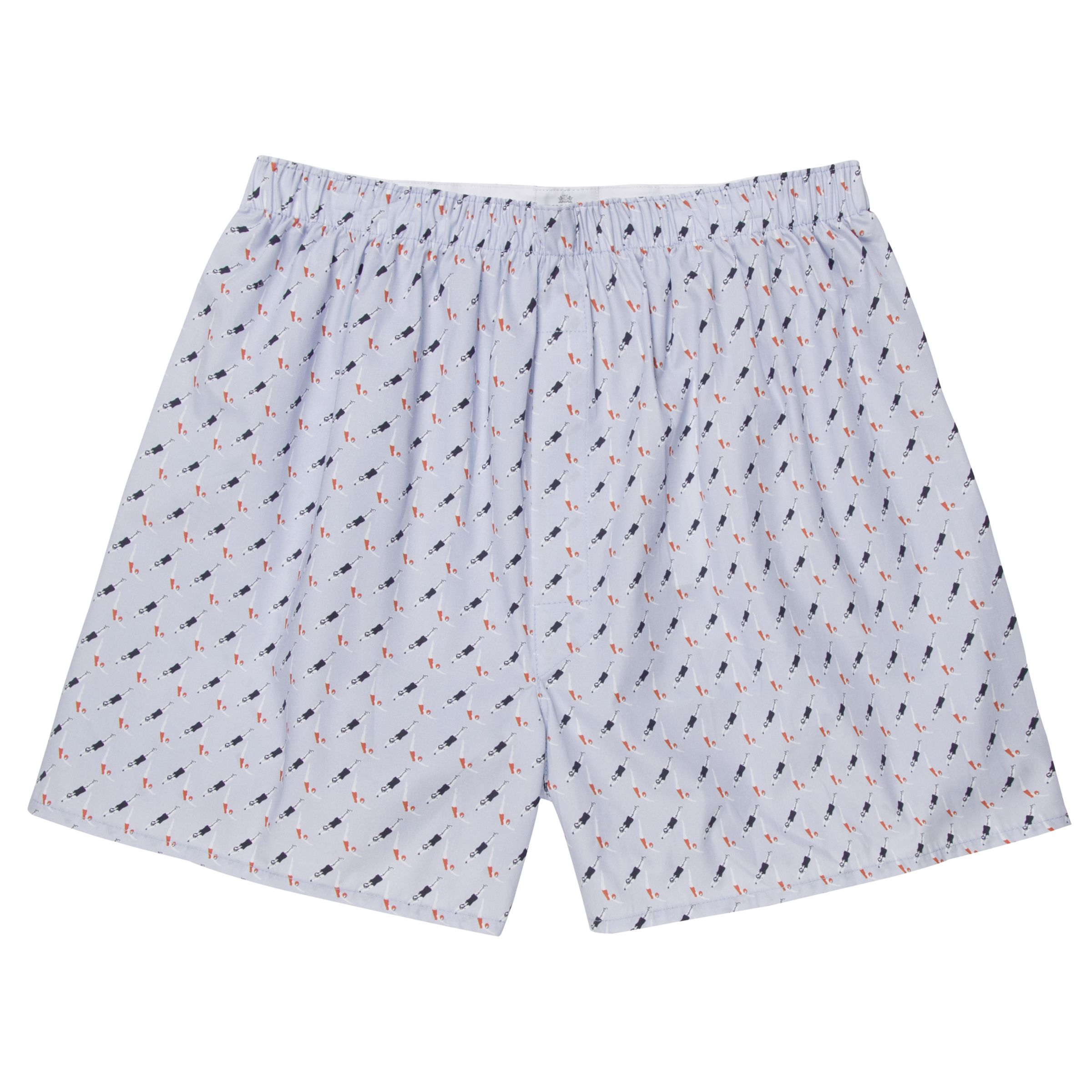 Sunspel Sunspel Classic Diver Print Cotton Boxer Shorts, Blue