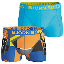 Buy Bjorn Borg Multi Collage Short Trunks, Pack of 2, Orange/Blue Online at johnlewis.com