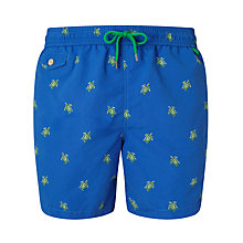 Buy Polo Ralph Lauren Turtle Print Swim Shorts, Blue Online at johnlewis.com