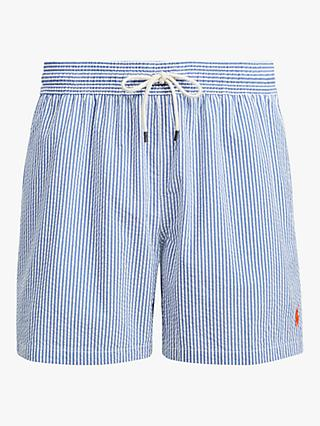 Polo Ralph Lauren Seersucker Stripe Swim Shorts, Blue