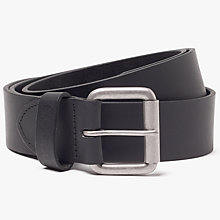 Buy Barbour Matte Leather Belt, Black Online at johnlewis.com