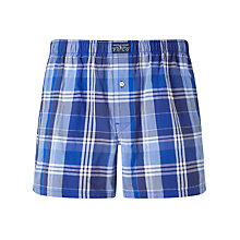 Buy Polo Ralph Lauren Plaid Woven Cotton Boxers, Blue Online at johnlewis.com