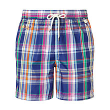 Buy Polo Ralph Lauren Classic Fit Plaid Swim Shorts, Navy/Multi Online at johnlewis.com
