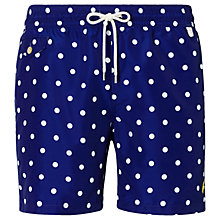 Buy Polo Ralph Lauren Polka Dot Swim Shorts, Blue Online at johnlewis.com