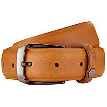 Buy Ted Baker Segment Smart Leather Belt, Tan Online at johnlewis.com