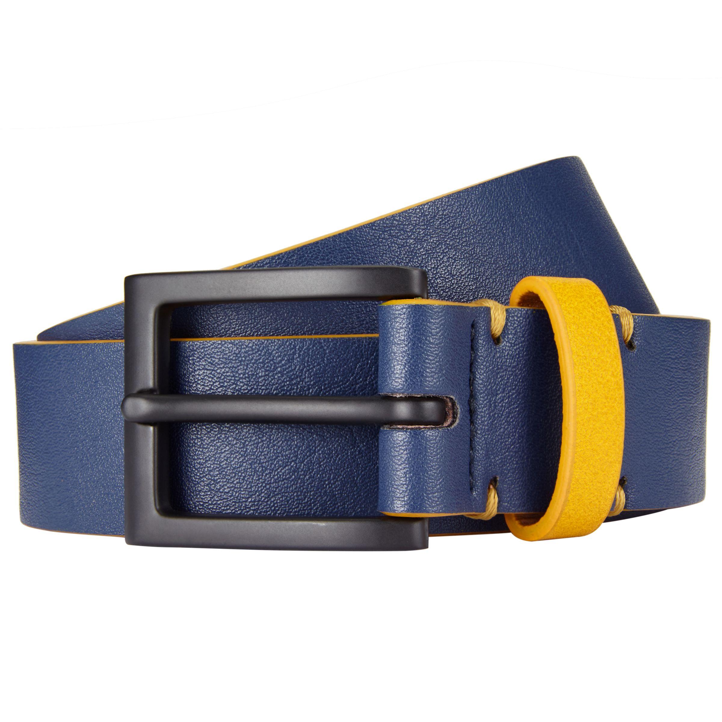 Kin by John Lewis Kin by John Lewis Coloured Keeper Belt, Navy/Yellow