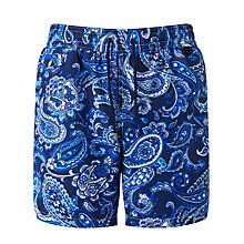 Buy Polo Ralph Lauren Paisley Print Swim Shorts, Blue Online at johnlewis.com