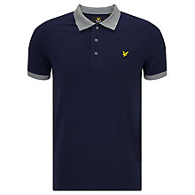 Buy Lyle & Scott Contrast Rib Polo Shirt, Navy Online at johnlewis.com