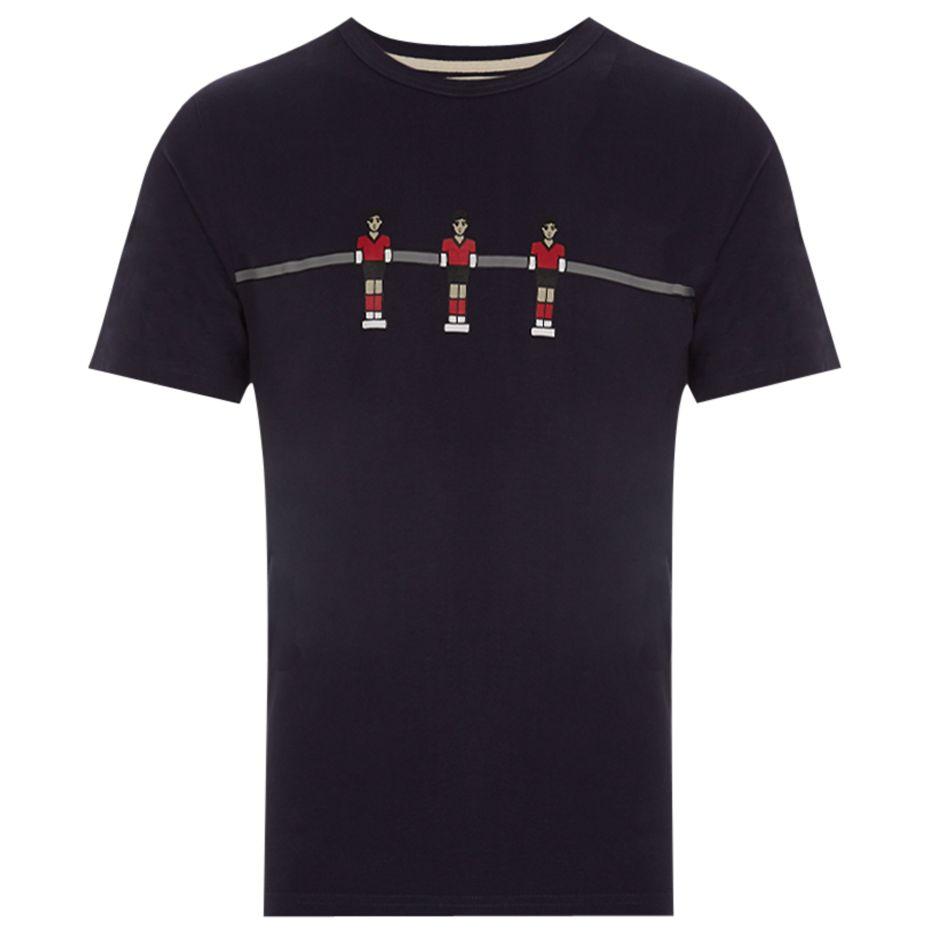 HYMN HYMN Fussball Table Football Print T-Shirt, Navy