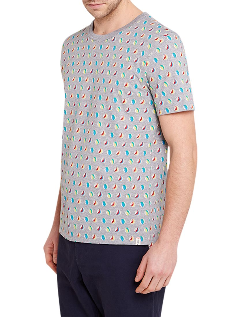 HYMN HYMN Marbles Graphic Print T-Shirt, Grey