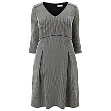 Buy Studio 8 Izzy Jacquard Dress, Black/White Online at johnlewis.com